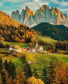 Around the world with me - Val di Funes- Dolomites - South Tyrol - Italy * ********* ✨BeautiFALL Fairy Tale Dolomites -  One of my biggest photographer's dream was to visit Val di Funes in South Tyrol. I was with my dear friend @rafebattiste. Mamma Mia, this place is so breathtaking!! Tag who you would visit this place with * ********** Please, check out my friends' feeds that I've tagged , you won't regret it.