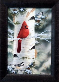 42 ideas red bird art for kids canvases for 2019 Pretty Birds, Beautiful Birds, Wall Art Prints, Framed Prints, Cardinal Birds, Cardinal Bird Tattoos, Kids Canvas, Bird Pictures, Christmas Paintings