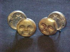 Scarce Vintage William Spratling Sun Moon Earrings Silver Copper Mexico | eBay