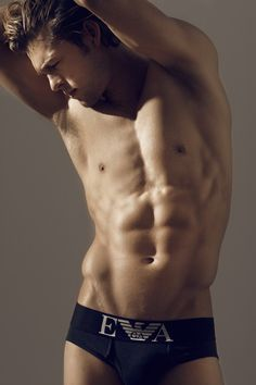 Josh Upshaw in Giorgio Armani underwear by Blake Davenport