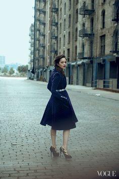 Marion Cotillard by Peter Lindbergh for Vogue US August 2012