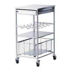 GRUNDTAL Carrello IKEA Offre una superficie d'appoggio e di lavoro extra.
