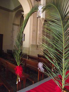D coration lei de culte feuilles de palmier et callas for Feuille de palmier deco