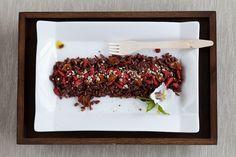 Riso rosso con bacche di Goji e Alchechengio, semi di canapa e olio di canapa  #vegan #vegetariano #health #salute #ricette #light