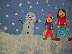 Tales from the Traveling Art Teacher!: A Snowy Day: Painting with 1st Grade