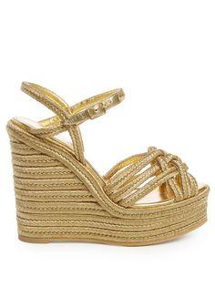 Espadrille wedge sandals | Saint Laurent | MATCHESFASHION.COM US