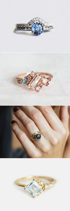 25 Unique Engagement Rings For The Non-Traditional Bride!