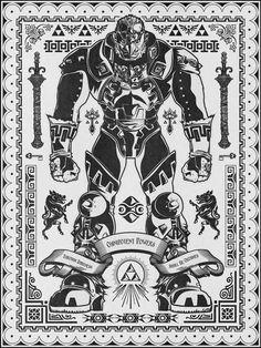 Legend of Zelda  Vintage Gaondolf Portrait  by barrettbiggers, $10.00