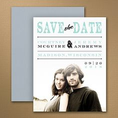 """Vintage Stamp Photo Wedding Save the Date Magnet 40% OFF  