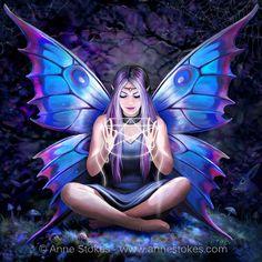Fantasy art angels beauty anne stokes 34 ideas for 2019 Fantasy Girl, Fantasy Art Angels, Fantasy Art Women, Fantasy Kunst, Dark Fantasy Art, Fantasy Artwork, Anne Stokes, Fairy Pictures, Fantasy Pictures