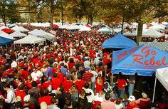 The Grove...where all the pretty people are before and after Ole Miss football games.