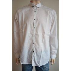 Next pánská košile, dlouhý rukáv bílá