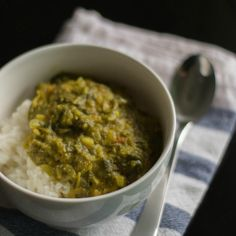Easy Recipe for Keerai Kuzhambu / kulambu. Made with toor dal, ginger and coconut. Served with rice. South Indian lunch recipe.