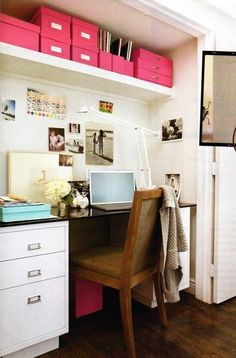 closet turned office space really cool idea and I can put all my clothes in another room and have a massive closet lol