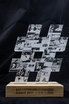 Transparent acrylic on solid oak base Awards 2017, Solid Oak, Photo Wall, Cards Against Humanity, Base, Home Decor, Photograph, Decoration Home, Interior Design