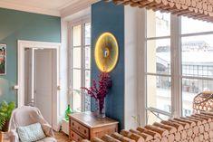 Applique 70 cm avec miroir soleil en métal doré Black Queen, Curtains, Mirror, Pitch, Applique, Furniture, Home Decor, Sun Mirror, Painted Wood