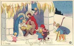Vintage Jesus - Jesus - Vintages Cards - Christmas Wallpapers, Free ClipArt for Xmas, Icon's, Web Element, Victorian Christmas Photos and Vintage Santa Claus pictures