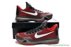 sites de lojas de tenis Vermelho / Preto Nike Kobe 10 Deep Garnet 653972-615 Masculino