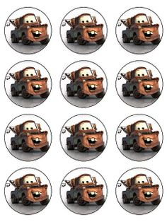 mater cupcake toppers