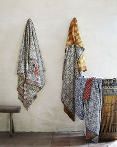 Cotton bedlinen and throws from Toast