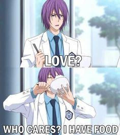 Basically me. It's great how Sushi-chan defends his food with more effort than the hoop