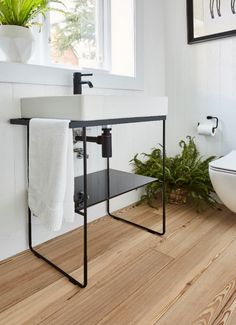 Northbank Pine - Rare Finds - Woodworks by Ted Todd. Our latest Rare Find - Northbank Pine, on show in this stunning downstairs bathroom. Wood in the bathroom is set to be huge in 2018 and we can see why.