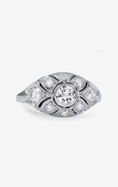The Eurora Retro Engagement Ring