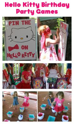 Adorable Hello Kitty birthday party game ideas #HelloKitty #birthday #partygames #games #DIY #frugal