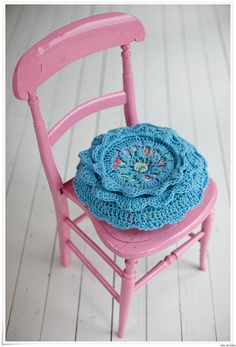 Crochet Cushion Love
