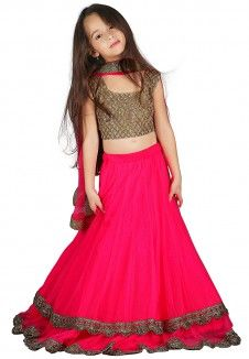 Gold Colored Designer Lehenga