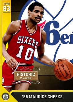 85 Maurice Cheeks (83) MyTEAM Gold Card Basketball Legends 62af09eed