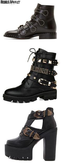 Shop goth punk boots on RebelsMarket!