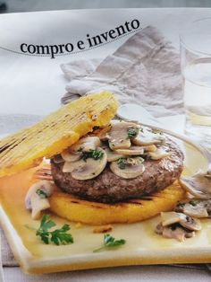 Polenta, Hamburger, Ethnic Recipes, Food, Eten, Hamburgers, Meals, Loose Meat Sandwiches, Diet