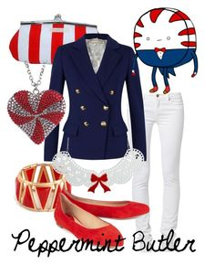 """""""Peppermint Butler from Adventure Time"""" by likeghostsinthesnow ❤ liked on Polyvore"""