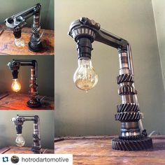 #Repost @hotrodartomotive  Another new one. Gearing up for the Ford Nats in Carlisle PA next weekend. June 3rd-5th. #hotrod #hotrodart #hotrodlamp #lamp #light #lighting #cool #custom #custommade #customlighting #metal #metalart #shopart #garageart #industrial #industrialart #oneofakind #industrialdesign #etsy #baltimore #hotrodartomotive #mikeforesta #carlisle #carlisleevents @carlisle_events by warbird303