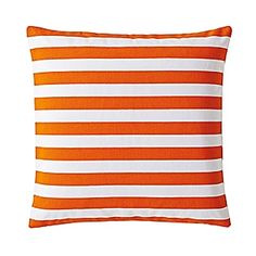 Add a bright pop of orange in the nursery or kids room with this classic stripe pillow!