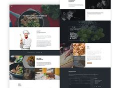 I' am a bit inspired today. So... here's another version for food and restaurants for my upcoming minimal web template. :) Feedbacks are welcome.   Thanks:)