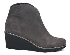 Nora's Shoe Shop : Brunate '68045' wedge boot in lapis