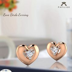 The perfect gifting for hearts on fire. Gold Earrings For Kids, Baby Earrings, Gold Earrings Designs, Small Earrings, Fancy Jewellery, Jewellery Maker, Dress Jewellery, Baby Jewelry, Handmade Jewelry