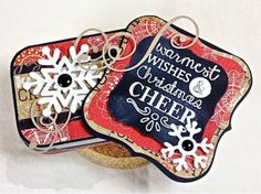 Warmest Wishes Gift Set by Shannon White #GiftGiving, #3x3Notecards, #AlteredProjects, #Chirstmas