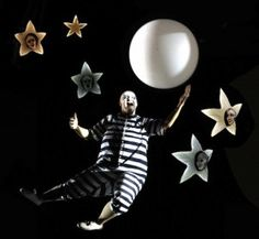 Addams Family Musical Set | Uncle Fester cavorts with the Moon Photo: Jeff Busby