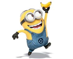 Minions are happy when they get their bananas!!!