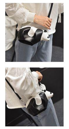 2016 корейской версии милые же Панда сумка из шагреневой косой ухаб цвет  небольшой одноместный плечо сумка женская крест оптом 13947d79c2d