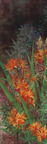 Wild Lily Garden I Giclee Print Poster by Li Bo Online On Sale at Wall Art Store – Posters-Print.com
