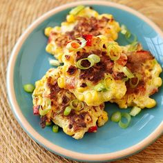 These fritters are also a great summer side dish. Add some heat by tossing in a chopped jalapeno. #recipe #WWLoves