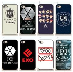 Exo phone case XOXO case is amazing (navy blue one) And the EXO from exo planet one too