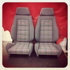 #recaro #seat #retrim for #vauxhal #nova (at Bernard Newbury Creative Interiors)