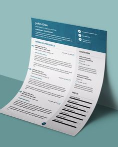 Professional Modern CV Resume Template If you like this design. Check others on my CV template board :) Thanks for sharing!