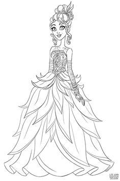 Раскраска Дисней Принцесса Тиана