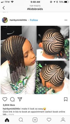 Back To School Hair Hair Kids Braided Hairstyles Braided - cornrow hairstyles for school big cornrow hairstyles Little Girl Braids, Black Girl Braids, Braids For Kids, Braids For Black Hair, Girls Braids, Hair Girls, Lil Girl Hairstyles, Black Kids Hairstyles, Kids Braided Hairstyles